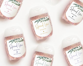 Personalized Wedding, Rehearsal Dinner, Bridal Shower Hand Sanitizer Labels Bath and Body Works