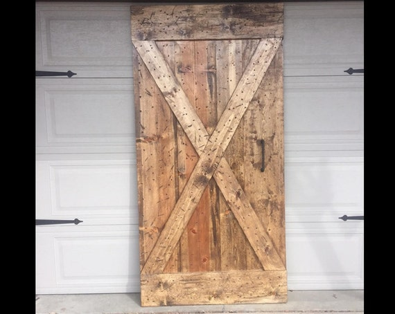 X Brace Barn Doors Customize To Your Size Etsy