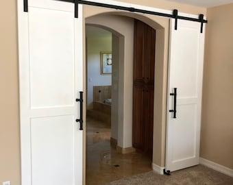 White Modern Sliding Barn Door