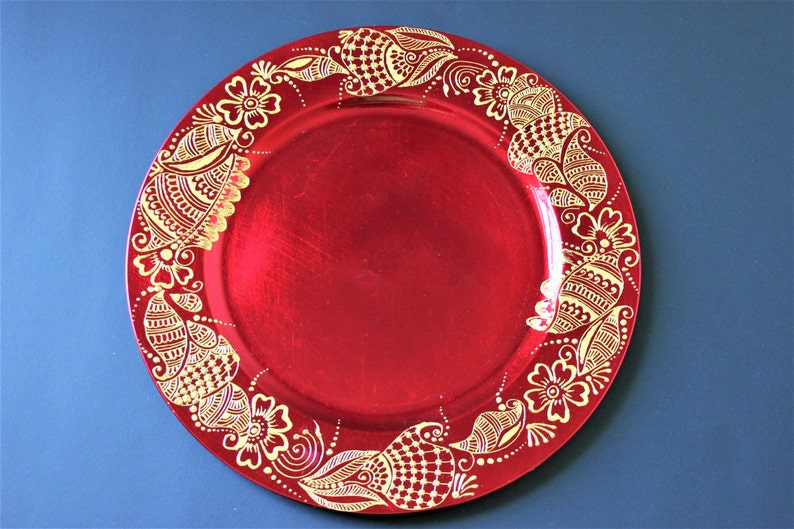 Surprising Paisley Red And Gold Charger Plates Paisley Pattern Table Ware Henna Design Mendhi Design Moroccan Art Housewarming Present T Art Download Free Architecture Designs Grimeyleaguecom