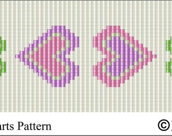 LOOM PATTERN  - Mother's Day Hearts