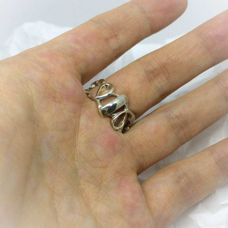 silver ring with Smoky quartz 28 ct size 9