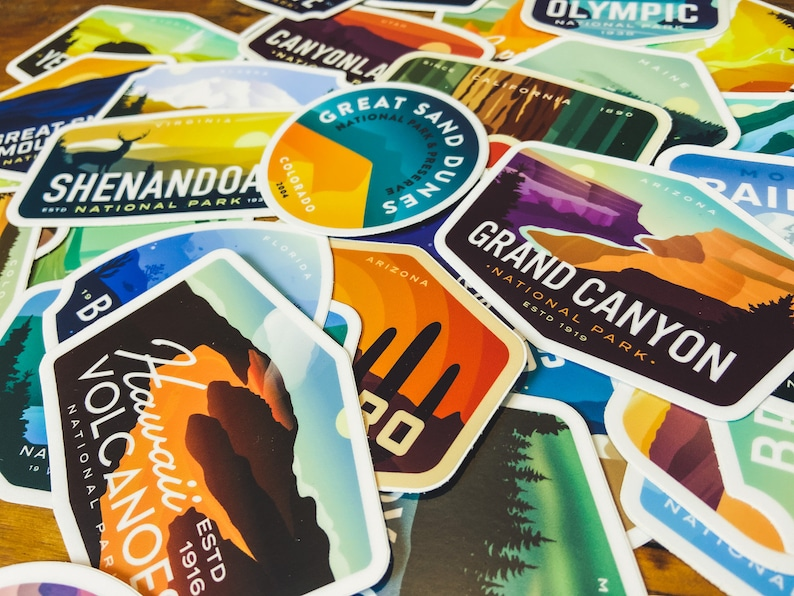 3 Pack of National Park Stickers  Mix & Match image 1