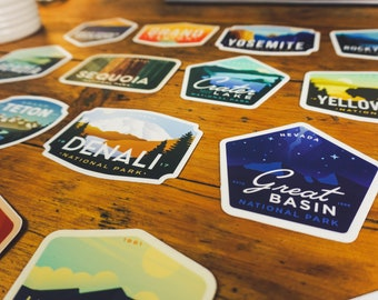 4 Pack of National Park Stickers | Mix & Match
