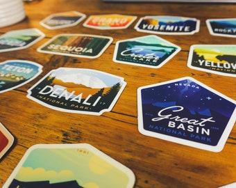 6 Pack National Park Stickers | Mix & Match