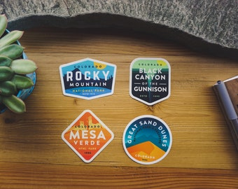 Colorado National Parks  4 Pack - Vinyl Stickers