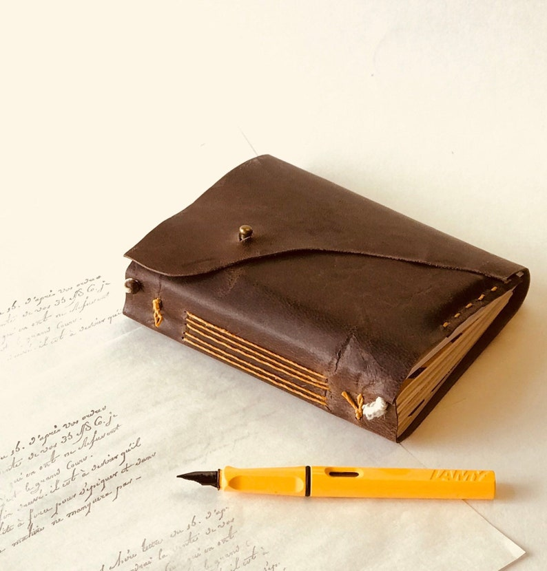 bc6e0e301ce Travelers notebook leather bound journal type Midori   Etsy