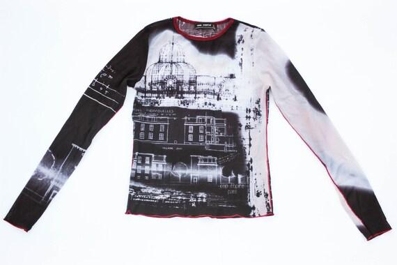 90s mesh top architectural print Cop Copine art pr