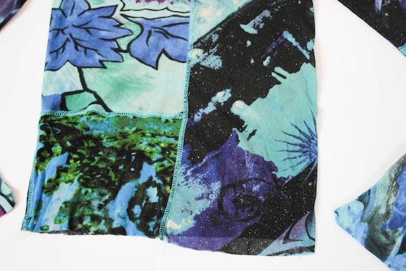 90s Kenzo mesh top kimono sleeve stretch tulle to… - image 5