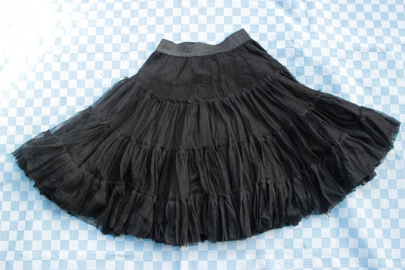 elastic waist Jean Paul Gaultier mesh XS designer vintage Vintage Junior Gaultier tutu skirt black mesh skirt note - tulle has some holes