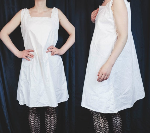 07b827d49b Antique Victorian Edwardian Cotton Camisole White Chemise