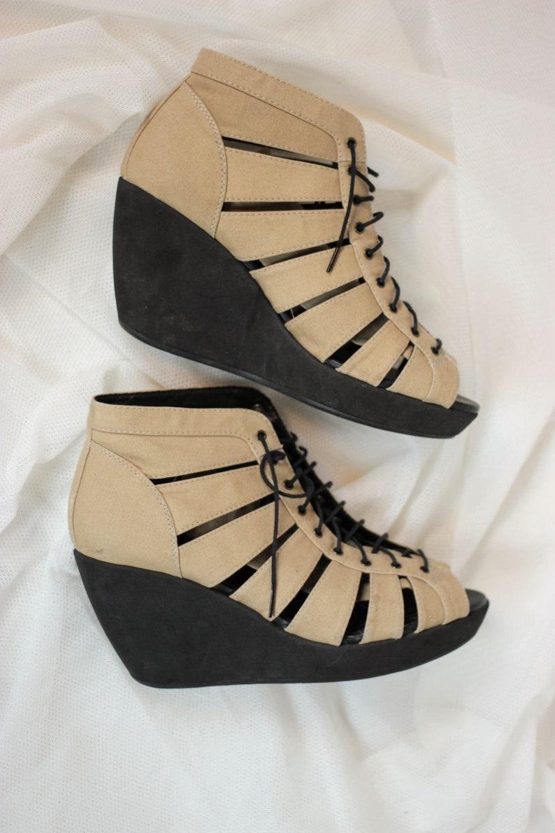 adcebbab4acf Vagabond Wedge Platform Shoes Ankle Sandal Shoes Lace Up