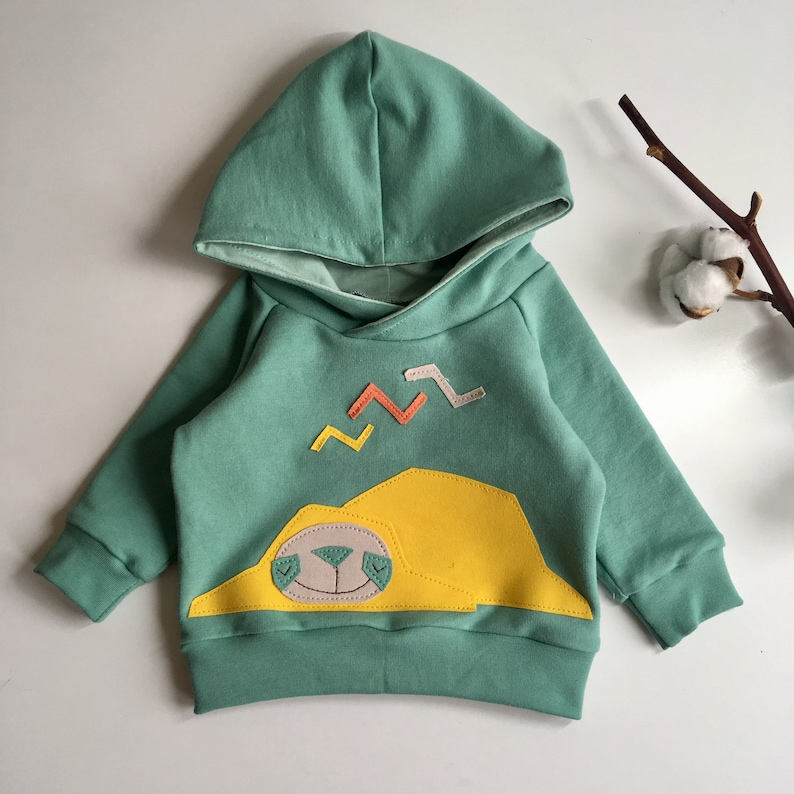 baby hoodie baby clothes baby pants Organic baby outfit organic baby clothes PEREZITO sloth handmade baby clothes