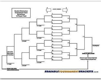 image about Printable 16 Team Bracket identified as Event bracket Etsy