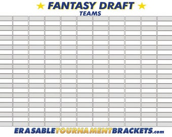 fantasy football draft kit board holds 12 teams 22 rounds reusable with marker