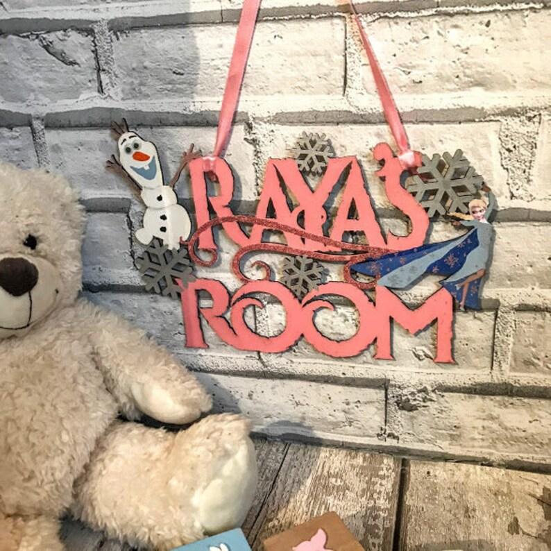 Frozen Elsa Olaf Disney gifts Disney Bedroom wall decor Bedroom decor  Bedroom wall art Kids door signs Signs Custom wood signs Wooden signs