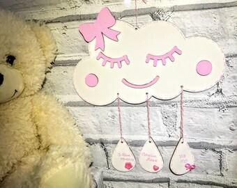 Dream catcher wall hanging Dream catcher Nursery mobile Nursery decor Baby mobile Mobile baby Baby shower Baby boy gift Baby girl gift
