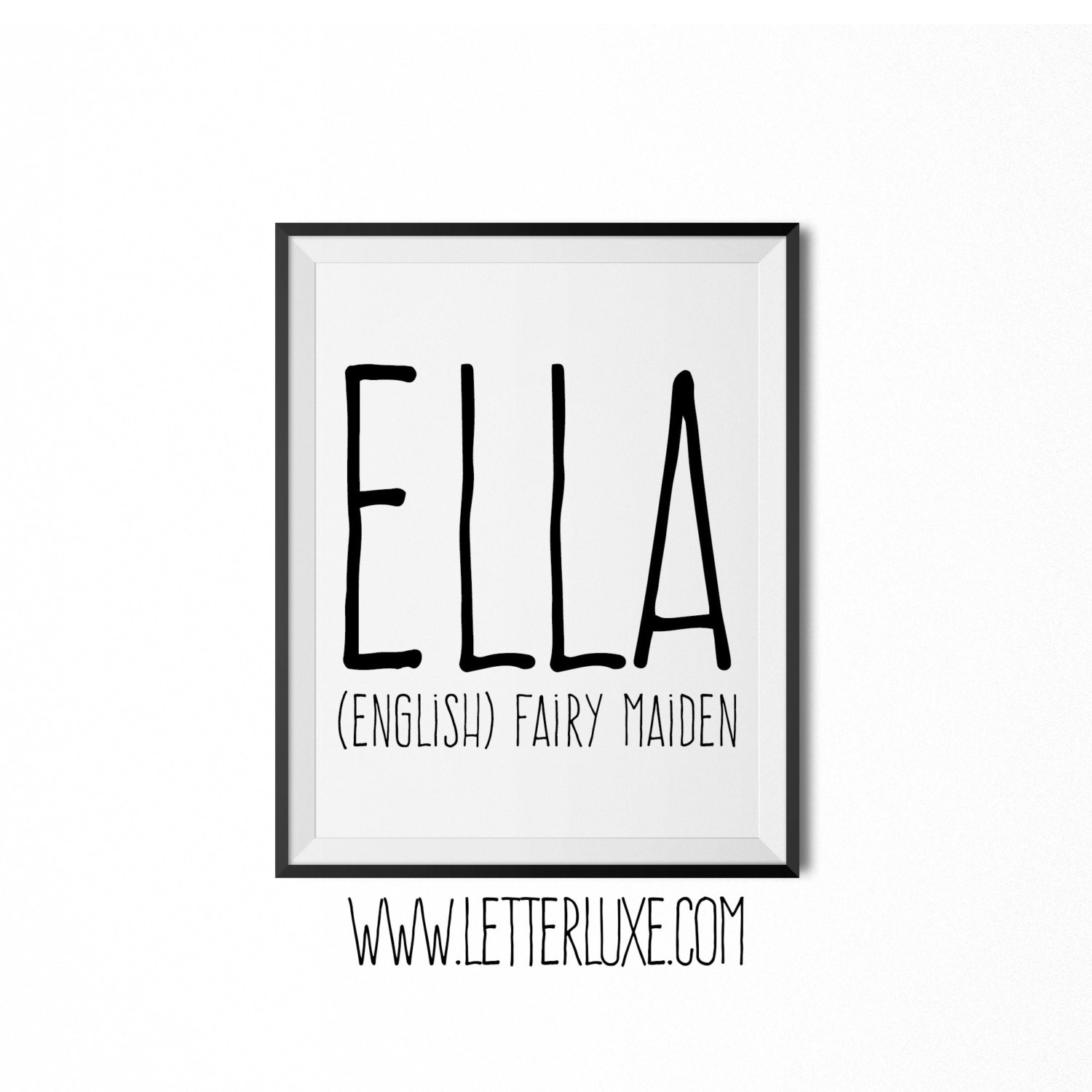 Ella name meaning art printable baby shower gift nursery zoom negle Choice Image