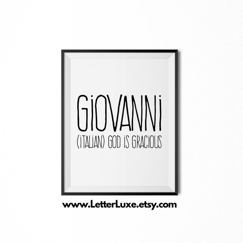 Giovanni Printable Kids Gift