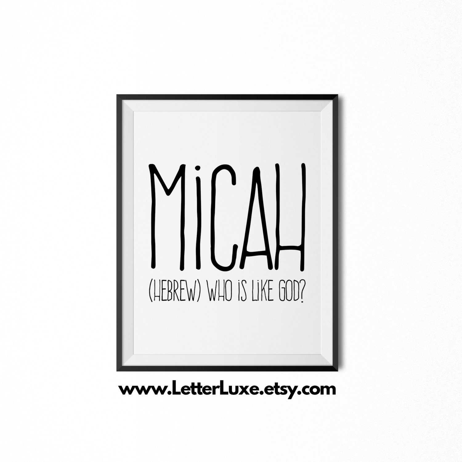 Micah printable kids gift name meaning art baby shower zoom negle Image collections