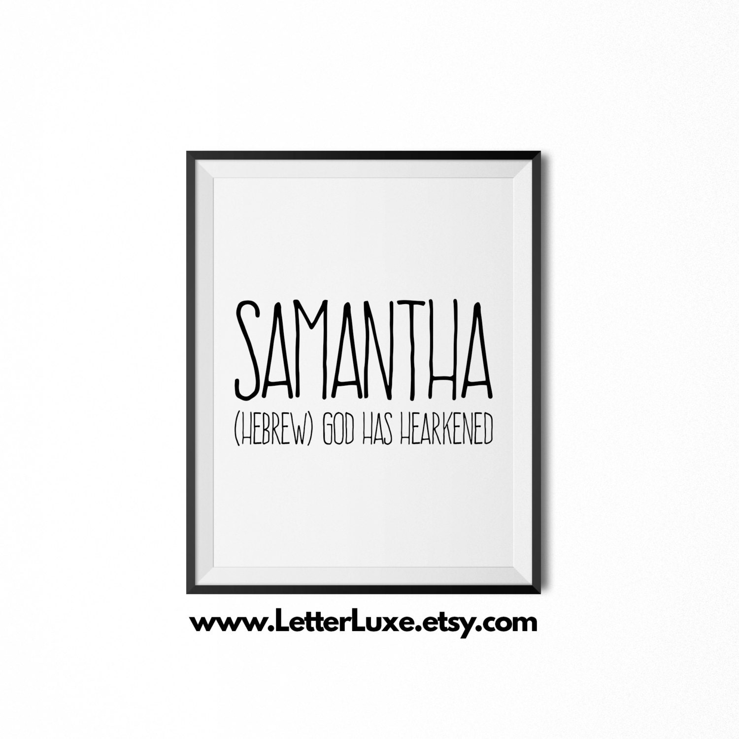 4ffa5f672 Samantha Name Meaning Art Printable Baby Shower Gift | Etsy