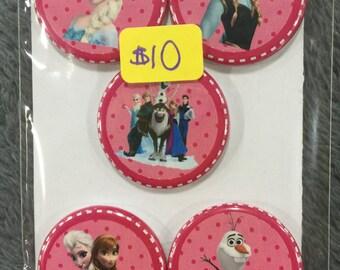 Frozen Button Magnets