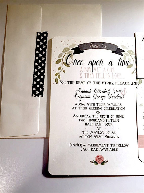 Once Upon A Time Wedding Invitations printed | Etsy