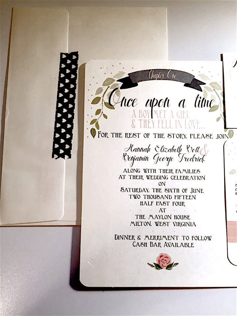 Once Upon A Time Wedding Invitations Printed Etsy