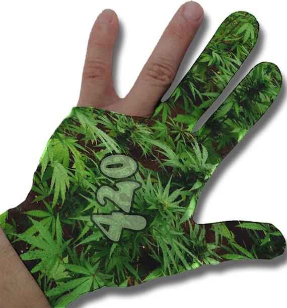 Leafy 420 Billiard Glove