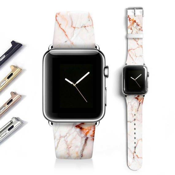 Marble Apple watch band women Apple watch strap genuine   Etsy