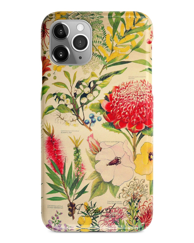 Vintage Floral Iphone 11 Case Iphone 8 Case Xs Max Case Etsy