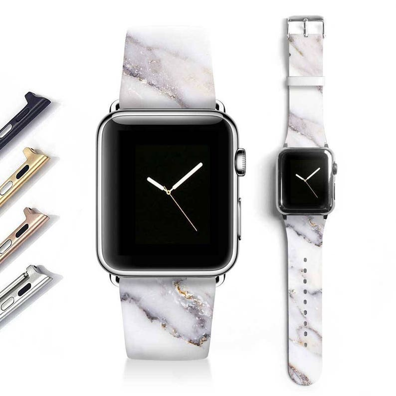 030467d13e4c1a Marble Apple watch band women Apple watch strap genuine