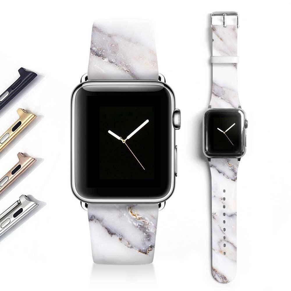 Marble Apple watch band women Apple watch strap genuine | Etsy