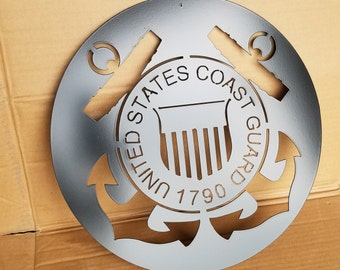 Metal U.S. Coast Guard Military Emblem