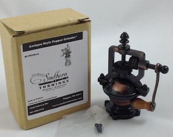 Lot of 8, Antique Style Hand Crank Pepper Mill Mechanism