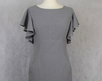 Grey Calvin Klein dress, dresses for women, women's dresses, vintage clothing, women's clothing, pre-owned, women's vintage clothing