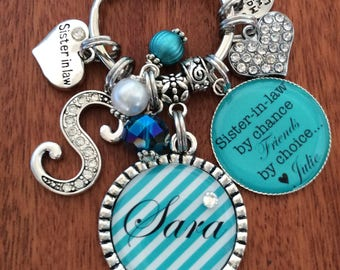 SISTER IN LAW Gift Sister In Law Birthday Keychain By Chance Friends Choice Personalized