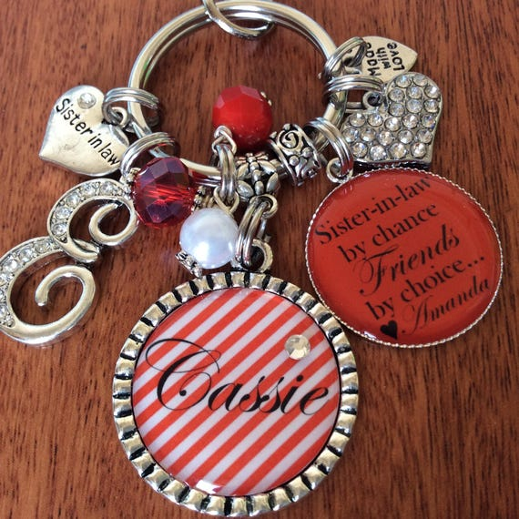 SISTER IN LAW Birthday Gift Sister Keychain Gifts