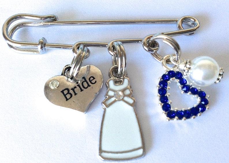0efb84d95 Bridal PIn Something Old New Borrowed Blue Wedding Pin