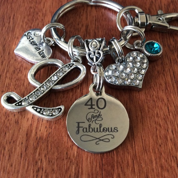 PERSONALIZED Forty And Fabulous Keychain 40