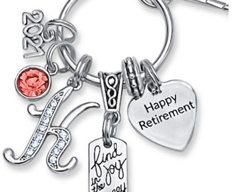 RETIREMENT, Retirement Gift, Retirement Gifts, Gifts For Retirement, Personalized Retirement Gifts For Women, Retirement Keychain,