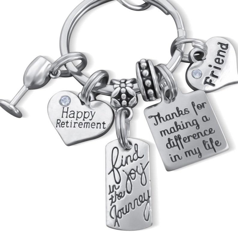 RETIREMENT GIFT FRIEND Retirement Gift Personalized Retirement Retirement Keychain Retirement Gifts For Friends Happy Retirement Gifts
