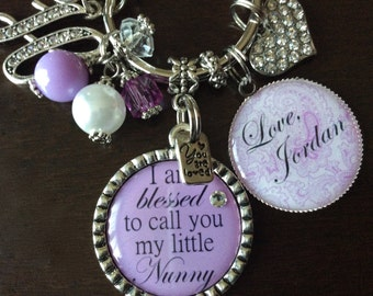 PERSONALIZED GRANDMA GIFT, Personalized Gift For Grandma, Grandma Birthday Gift, Grandma Birthday Keychain, We Are Blessed Keychain, Granny