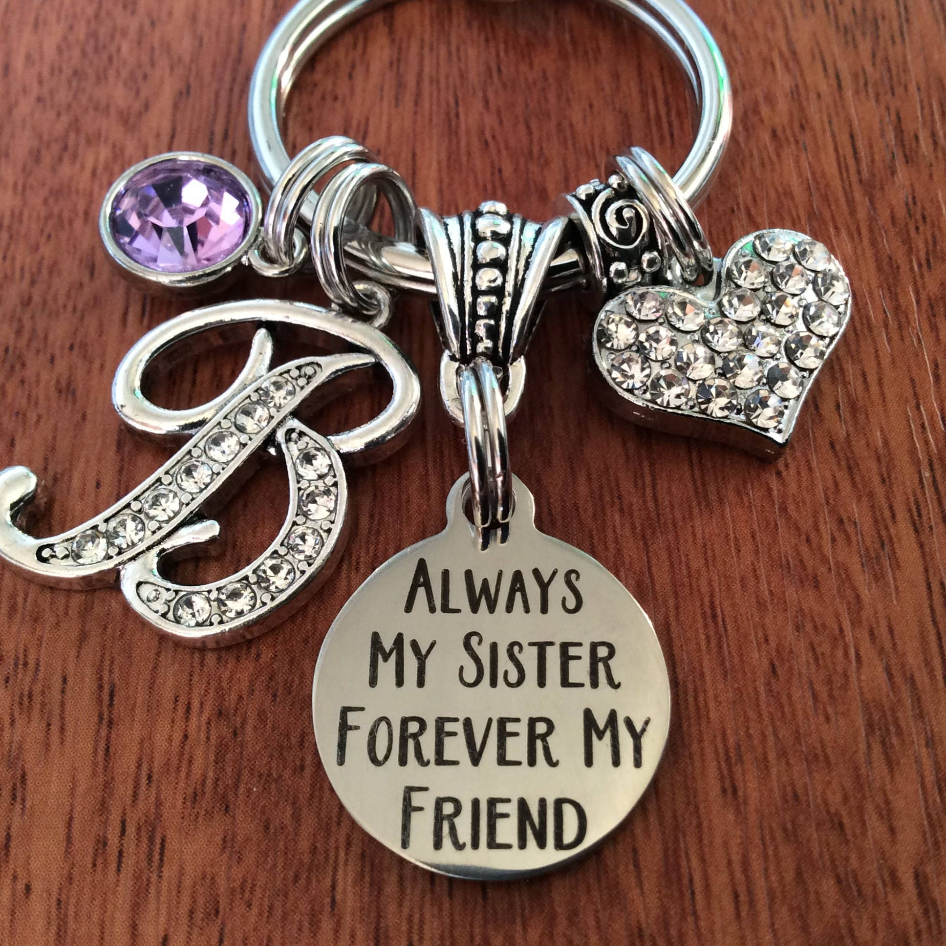 Handmade Glass Print /'First My Mother /& Forever My Friend/' Charm Chain Keyring