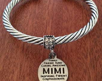 MIMI-Gift, Mimi Bracelet, Mimi Jewelry, Gifts For Mimi, Mimi Birthday Gift, Mimi Cuff Bracelet, Grandma-Gifts, Mimi Nana Grandma Gifts, Mimi