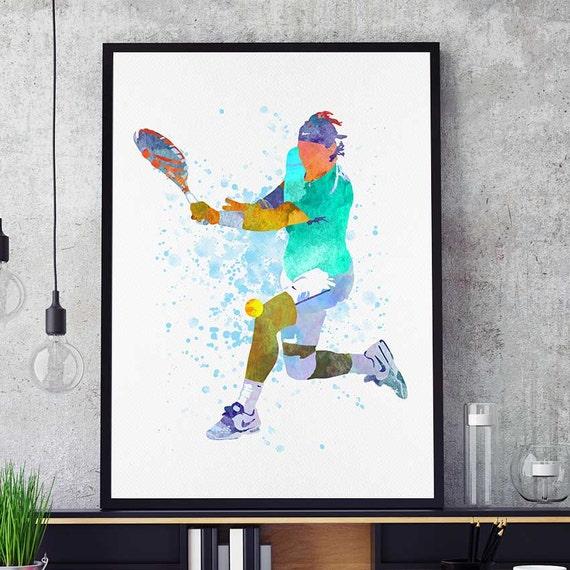 Rafael Nadal Poster Tennis Gifts Rafa Fan Art Nadal Wall Etsy