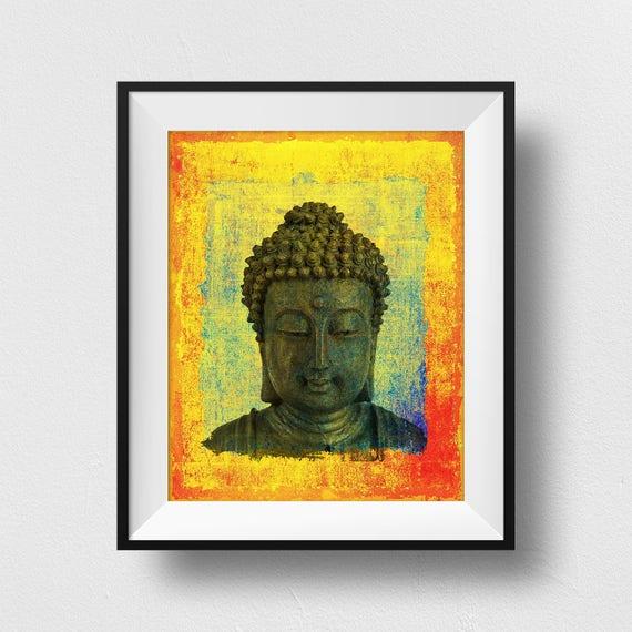 BUDDHA STATUE ORNAMENT POSTER ART PRINT A4 A3 A2 A1 A0 SIZES