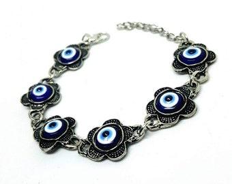 Items similar to Evil eye bracelet, turkish evil eye, neon