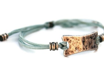 Boho Bracelet, Macrame Bracelet, Gift for her, Wrap Silver Bracelet, Bohemian bracelet, Bar bracelet, Silver Jewelry, Festival Jewelry