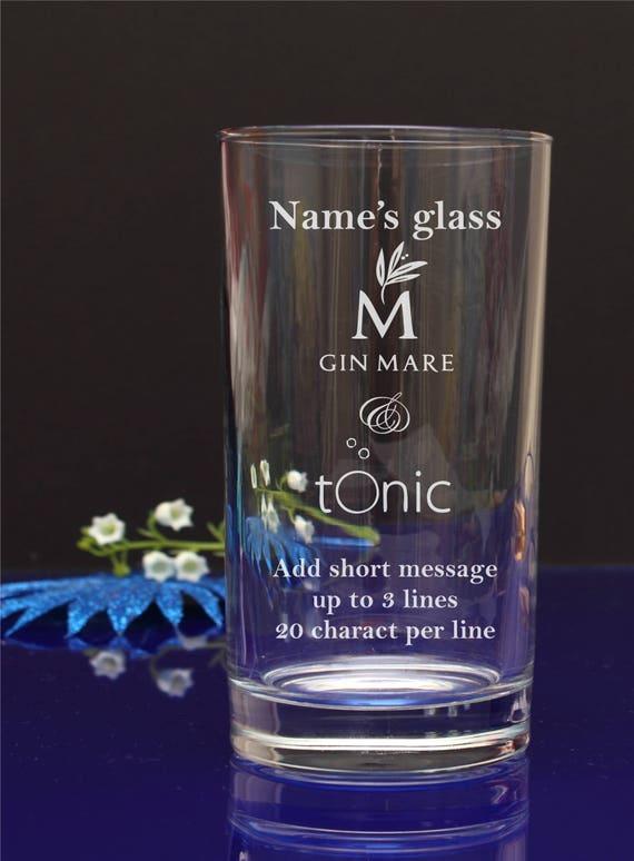 Engraved Hi-Ball Mixer Glass Vodka /& Coke Gin /& Tonic Birthday Gifts Present